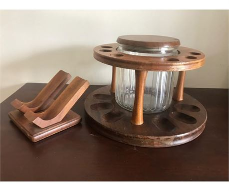 Vintage Decatur Industries Pipe Stand and Humidor