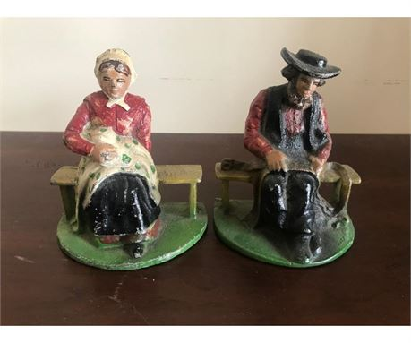 Cast Iron Amish Bookends