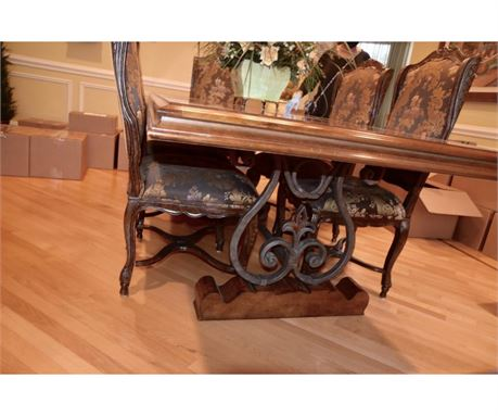 century dining table chairs